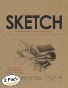 Premium Paper Sketch Pad for Pencil, Ink, Marker, Charcoal and Watercolour Paints. Great for Art, Design and Education. (Jumbo 22cm x 28cm )