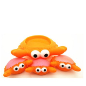 Zehui Baby Kids Cute Animal Mummy and 3 Babies Squeaky Floating Bathtub Play Toys Crab
