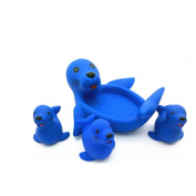 Zehui Baby Kids Cute Animal Mummy and 3 Babies Squeaky Floating Bathtub Play Toys Sea Lions