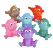 1 ASSORTED colour RUBBER MONKEY