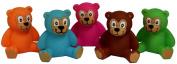1 ASSORTED colour RUBBER TEDDY BEAR