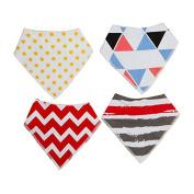 2 4PCS-Kids-Baby-Unisex-Bandana-Bibs-Feeding-Saliva-Towel-Dribble-Triangle-Bandage