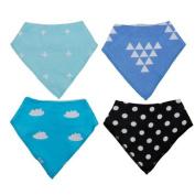 1 4PCS-Kids-Baby-Unisex-Bandana-Bibs-Feeding-Saliva-Towel-Dribble-Triangle-Bandage