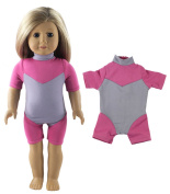 HongShun Fashion Cute Pink Diving Suit for 46cm American Girl Doll