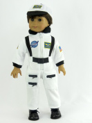 White Nasa Suit | Fits 46cm American Girl Dolls, Madame Alexander, Our Generation, etc. | 46cm Doll Clothes