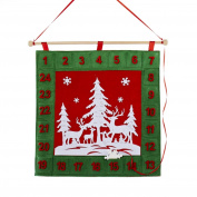 47cm Red, Green and White Advent Calendar Countdown Christmas Decoration