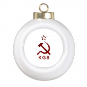 BUCKIE IY Large Christmas Tree Ball Ornaments KGB Grunge Office Decor