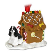 COCKER SPANIEL Dog Black and White NEW Resin GINGERBREAD HOUSE Christmas Ornament 15E by Eyedeal Figurines