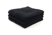 12 X BLACK BLEACH PROOF HAIRDRESSING / BEAUTY TOWELS / BARBER TOWELS / SALON TOWELS 400GSM 50 X 85CM