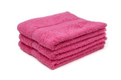 12 X LUXURY EGYPTIAN COTTON HOT PINK HAIRDRESSING TOWELS/ BEAUTY TOWELS / BARBER TOWELS / SALON TOWELS 500GSM 50 X 85CM