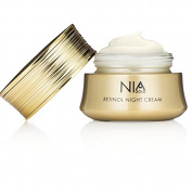 Nia Gold Luxury Anti-Ageing Skin Care. Retinol Night Cream with 24 KT Gold, Argan Oil, Jojoba Oil and Pure Honey. 30ml