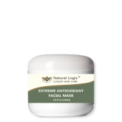 Natural Logix's Extreme Antioxidant Facial Mask with Kaolin Clay, Natural Oils, Glycolic & Lactic Acids turns back the clock for smoother, younger, happier and truly vibrant skin, 70% Organic, 120ml