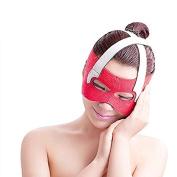 AABABUY 1PC Red Anti Wrinkle Belt Half Face Slimming Cheek Mask Lift V Face Line Slim up Belt Strap