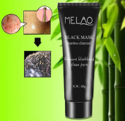 Blackhead Remover Mask, Black Head Mask, Bamboo Charcoal Tearing Style Deep Cleansing Purifying Peel off Blackhead, Acne treatment, Black Mud Face Mask, 60g