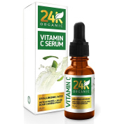 24K Vitamin C Serum for Face, Anti-Ageing Topical Facial Serum with Hyaluronic Acid And Aloe Leaf, 30ml