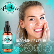Niacinamide Cream Serum Vitamin B3 5% - 60ml - w/ Hyaluronic Acid, Vitamin E, & Aloe Vera. Reduces Wrinkles, Moisturises Skin, Improves Blotchiness And Redness, Tightens Pores, Controls Oil Production