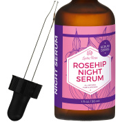Rosehip Night Serum by Leven Rose - 100% Pure, Organic, Natural - Renews Skin, Brightens Complexion, Anti-Inflammatory, Anti-Ageing - 30ml