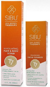 Sibu Exfoliating Face & Body Scrub and Polishing Facial Cleanser Bundle With Sea Buckthorn Oil, Soybean Oil, Grapefruit Peel Oil and Jojoba Oil, 100ml and 120ml