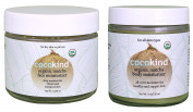 Cocokind Organic Matcha Face and Body Moisturiser Bundle With Organic Virgin Coconut Oil, Matcha Tea Powder, Pomegranate Oil and Bergamot Oil, 60ml and 120ml each