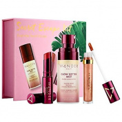 Wander Beauty Secret Escape Kit : Glow Getter Mist, Beach Balm in Sangria, Exquisite Eye Liquid Shadow in Champagne