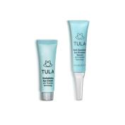 TULA Skin Care Mini Eye Serum & Eye Cream Duo with Probiotic Technology, 7g & 10g.