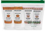 Linha Terrapeutics Granado - Kit Amenities Sete Ervas (Shampoo e Condicionador) e Calendula (Sabonete Liquido e Hidratante) 4 x 50 Ml -