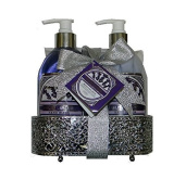 Mothers Day Gift Set English Lavender Hand Wash/Lotion Wire Caddy Bath Set