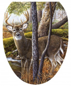 Toilet Tattoos, Toilet Seat Cover Decal,Deer Creek, Size Elongated