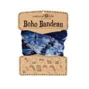 Natural Life Boho Bandeau Navy Tie-Dye