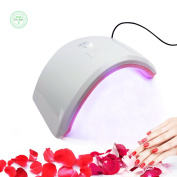 18-24W UV LED Curing Lamp by IceJazz, Nail Gel Dryer with 30s and 60s Timer Settings for both Fingernail & Toenail - Pink