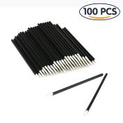 Shintop 100PCS Disposable Eyeliner Makeup Brush Applicator Disposable Fine Tip Eyeliner Brushes
