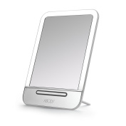 Abody Portable LED Lighted Tabletop Makeup Mirror, Smart Touch Settings Rechargeable Cosmetic Mirror Adjustable Light