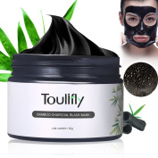Bamboo Charcoal Black Mask,Peel Off Mask,Remove Blackheads Mask,Purifying Black Face Mask Blackhead Remover Cleaner,Deep Pore Facial Cleansing Mask Facial Masks Black 120g