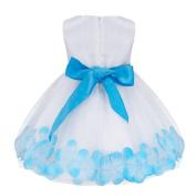 YiZYiF Petals Flower Girl Baby Sleeveless Wedding Formal Bridesmaid Party Princess Dress