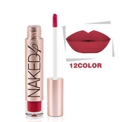 Miskos Brand 12 Matte Colour Lip Gloss Easy to Wear Long Lasting Lips Makeup Liquid Lipstick Naked