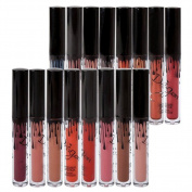 Richoose 16 Colours Set Waterproof Liquid Makeup Lip Pencil Matte Lipstick Lip Gloss Super Long Lasting