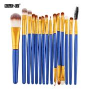 Makeup Brush Set,YJM 15pcs Cosmetic Makeup Brush Blusher Eye Shadow Brushes Set Kit