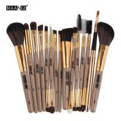 Makeup Brush Set,YJM 15PCS Make Up Foundation Eyebrow Eyeliner Blush Cosmetic Concealer Brushes
