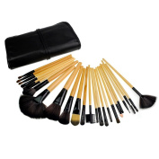 Aoile 24pcs Professional Cosmetic Makeup Brush Set with Balck Bag by Aoile