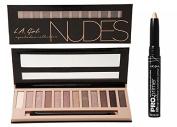 L.A. Girl Beauty Brick Eyeshadow - Nudes + HD Pro Primer Eyeshadow Stick - Nude