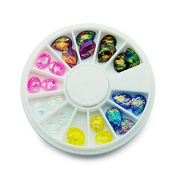 KADS Ovals & Water Drop-shaped Design Hot Rhinestoes Mix Colours Acrylic UV Gel Nail Tips Gems Decoration DIY Tool
