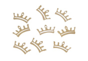 Zink Colour Nail Art Crown Metal Decal 10 Piece Embellishment