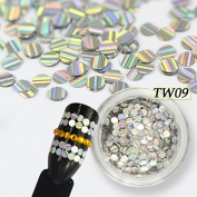 1 Bottle Coloured Optional Mini Nail Art Glitter Paillette 3d Tips Sticker Shiny Design Nail Art Decoration JITW03-17