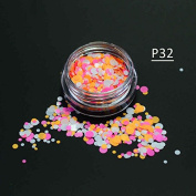 1g/bottle Mixed 1-3mm Nail Art Glitter Round Mini Thin Adhesive Plastic Paillette Decorations Woman Girl DIY Tools P29-35