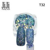 3g jar Mix Colour 3D shinning Nail Art Hexagon Shape USA Glitter Nail Art Tips For Nail Decoration T32-40