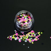 1g Laser Mini Round Shape Nail Glitter Paillette Decorations Colour Shinning Shape Round DIY Thin Sequins Tips P28