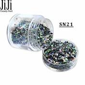 10g/Bottle New Cheese Glitters Mixed Colours DIY Beauty Powder Decorations Dazzling Nail Art Glitter SN17-32