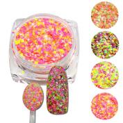 Trendy Nail 3g jar Cheese Glitter Nails Glitters Dust Nail Art Decorations Dazzing Powder 4 Optional SN09-12