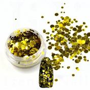 1g/Bottle Silver Gold Mini Round Slice Nail Glitter 1mm, 2mm, 3mm Mixed Size Nails Art Glitters Plastic Thin Decorations ND290
