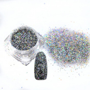 1 Bottle 0.4mm Nail Glitter Powder Dust Holographic DIY Gold/Silver Sequin Nails Laser Paillette DIY Nail Art Decorations 015T